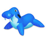 Inflatable Whale Rider for Kids Swimming in The Pool