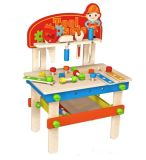 New Fashion Wooden Workbench Toy for Kids and Children