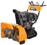 Commercial 2 Stage Gasoline Snow Blower with Rubber Track Wheels