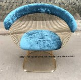 Metal Dining Restaurant Leisure Cushion Outdoor Steel Wire Chair