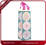 Circular Patterns Wine Bottle Paper Bag, Paper Gift Bag,