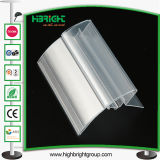 Transparent Plastic PVC Supermarket Shelf Price Tag for Sale