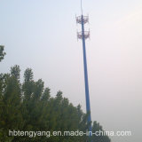 Hot DIP Galvanized Steel Single Tube Telecommunication Tower/Monopole Pole