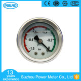 40mm Back Connection Stainless Steel Oil Filled Vacuum Pressure Gauge