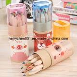 12 Colors 3.5 Inch Color Pencil in Paper Barrel, Sky-028