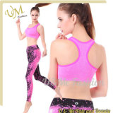 Women′s Athletic Workout Yoga Legging and Sports Bra Set