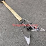 Pango Acrylic, Flying V, 4 Strings Bass Guitar with LED Light (PBL-005)