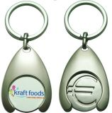 Promotional Euro Coin Holder Keychain