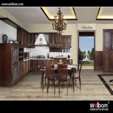Welbom Chocolate Color Customized Solid Wood Kitchen Cabinets