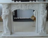 Designed Natural Stone Fireplace Mantle for Decoration