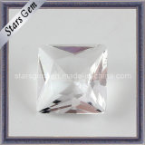 5mm White Square Shape Princess Cut Glass Beads for Jewellry
