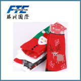 Colorful Christmas Fabric 100% Cotton Tube Gift Socks