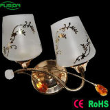 Fixture in Glass Wall Lamp with Two Lamps (9375/2W)