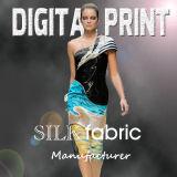 Ladies′ Scarf, 100% Silk Ladies Fancy Digital Print Long Scarf (JC-332)
