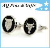 Metal Cuff Links with 3D Logo