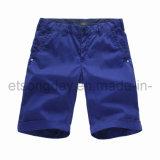 Dark Blue 100% Cotton Men′s Shorts (41U25108)