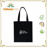 Custom Logo Bulk Reusable Black Cotton Canvas Bag