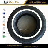 White Wall Passenger Car Tire and PCR Tyre (185R14C, 185R15C, 195R14C)