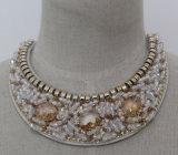 Ladies Fashion Jewelry Crystal Chunky Choker Necklace (JE0125-1)