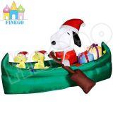High Quality Inflatable Christmas Santa Snoopu Ship for Sale