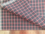 Red/White/Black 125GSM 100% Cotton Yarn Dyed Fabric