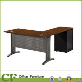 Metal Leg Modern Office Desk with Side Table