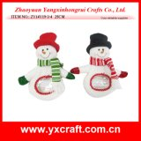 Christmas Decoration (ZY14Y19-3-4) Snowman Candy Holding Xmas Tree Decoration