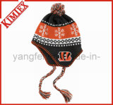 Fashion Customized Jacquard Promotion Acrylic Earflap Hat