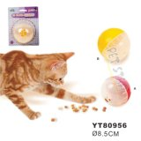 Plastic Cat Feeding Ball Dia 8.5cm, Color Assorted