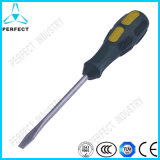 Magnetic Plastic Handle Slotted Screwdriver