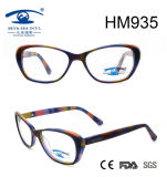 Acetate Optical Frame Rainbow Color Women Eyeglass (HM935)