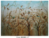 New Bird and Grass Design Oil Painting on Canvas (LH-700619)