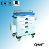 Steel Painted Hospital Medical Emergency Trolley (N-8)