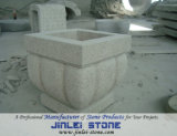 G682 Yellow Granite Stone Garden Flower Pot with Bushhammer Surface