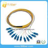 12 Color Sc Upc Singlemode 12 Core Fiber Optic Pigtail