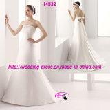 Opulent Elegant Satin Bow Wedding Dress with Beaded