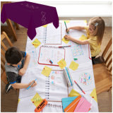 Kids Draw on Disposable Paper Tablecloth Roll with PE Laminated