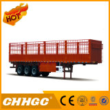Chhgc 3 Axle Flat-Type Cargo Stake Semi Trailer with Short Lock