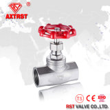 ANSI 200 Psi 304 Thread Stainless Steel Globe Valve