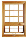 America Style Solid Oak Wood Casement Window with Crank Handle