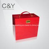 Red Jewelry Storage Box for Women