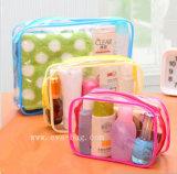Transparent PVC Cosmetic Bag Train Bag Vinyl Packing Pouch