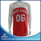 Custom Made Full Sublimation Premium Basketball Single Ply Reversible Vest