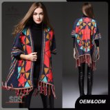 Women Fashion Ethnic Style Cardigan Tassel Sweater Clothes