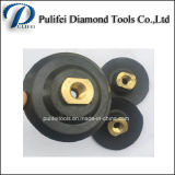 80mm 100mm 125mm 150mm Rubber Backer Pads for Polishing Pad