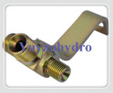 Bsp Hydraulic Tee Thared Fittings Adaptor with Welding Assembly Plate