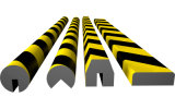 Black & Yellow Color PU Foam Impact Wall Protection