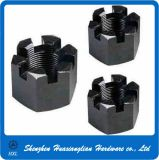 Grade 12.9 Black Steel DIN935 Hexagon Slotted Nuts