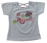 Fashion Girl Kids Clothes T-Shirt with Embroider Sgt-033