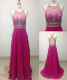 Elegant Evening Dresses. Heavy Beaded Evening Wear with Diamonties